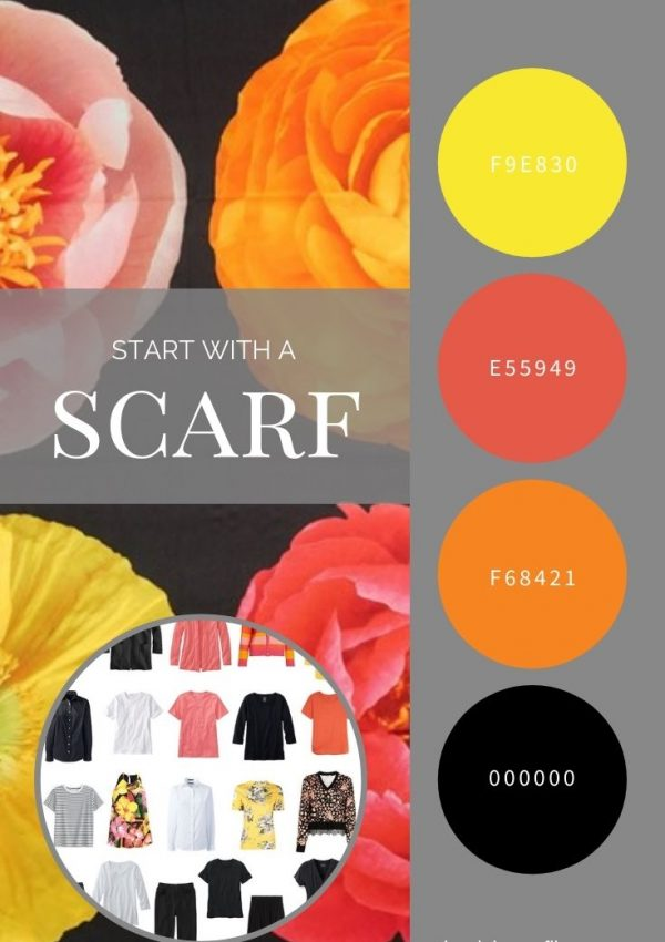 START WITH A SCARF_ ECHO PHOTO FLORAL SILK SQUARE