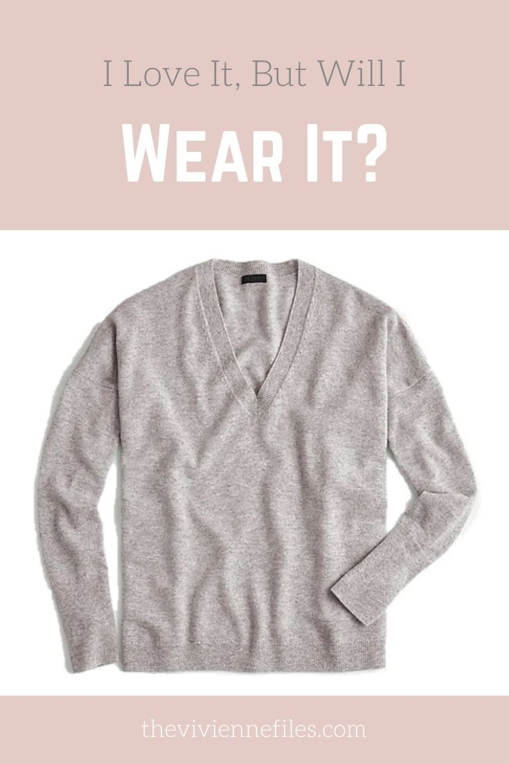 I LOVE IT, BUT WILL I WEAR IT? GREY V-NECK CASHMERE SWEATER