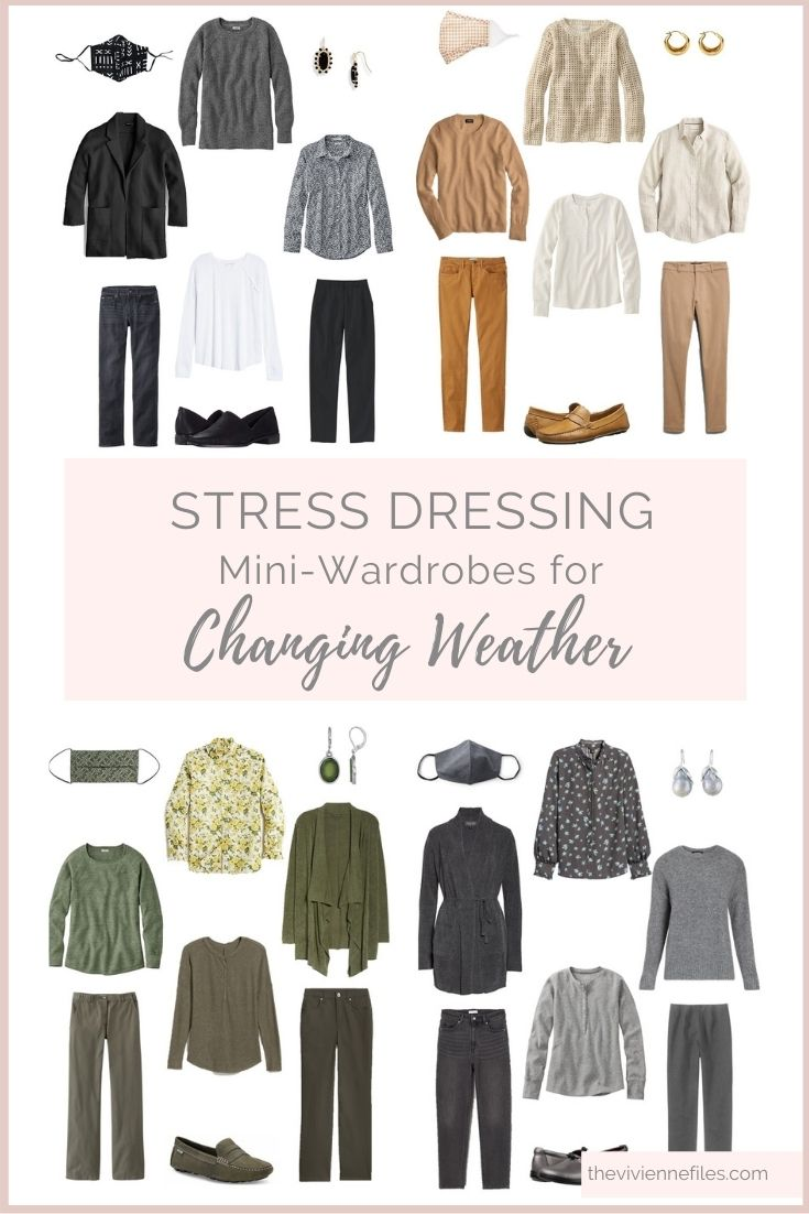 STRESS DRESSING MINI-WARDROBES FOR CHANGING SPRING WEATHER