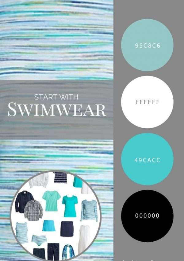 START WITH SWIMWEAR_ PARADISE AQUA SPADE DYE TANKINI FROM LANDS' END