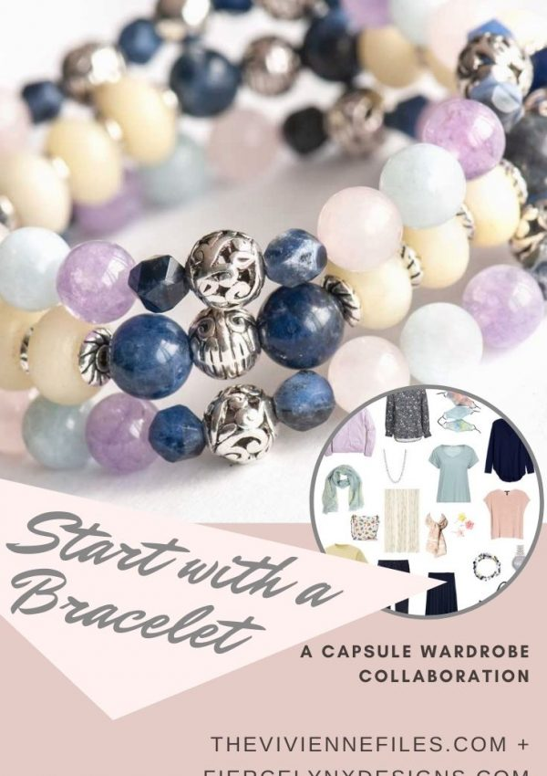 how to build a capsule wardrobe starting with a navy and pastel Bracelet