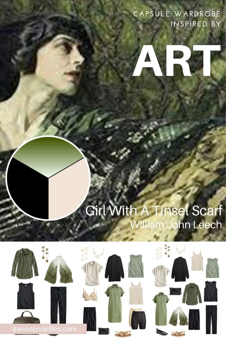 START WITH ART GIRL WITH A TINSEL SCARF BY WILLIAM JOHN LEECH