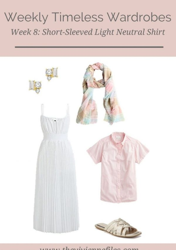 WEEKLY TIMELESS WARDROBE #8 – SHORT-SLEEVED LIGHT NEUTRAL SHIRT
