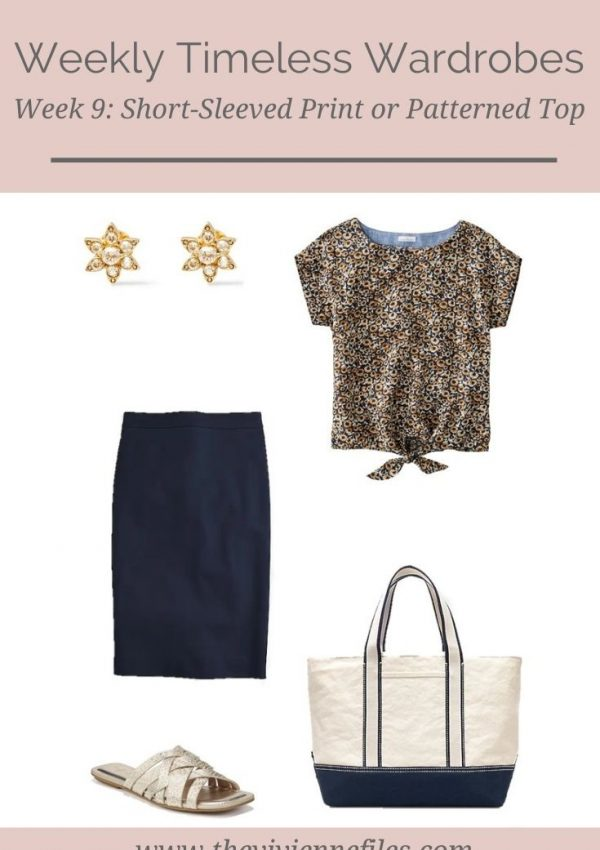WEEKLY TIMELESS WARDROBE #9 – SHORT-SLEEVED PRINT OR PATTERNED TOP