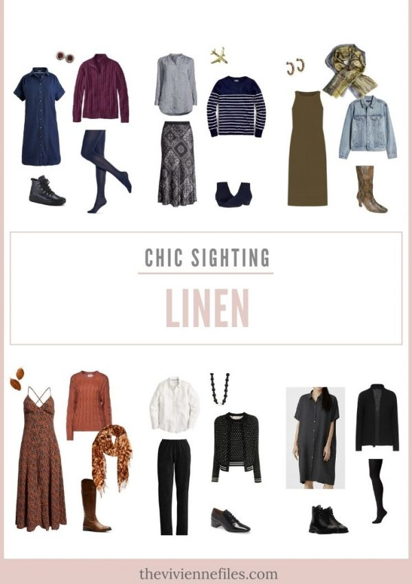 CHIC SIGHTING, AND RETHINKING THE ROLE OF LINEN IN MY WARDROBE