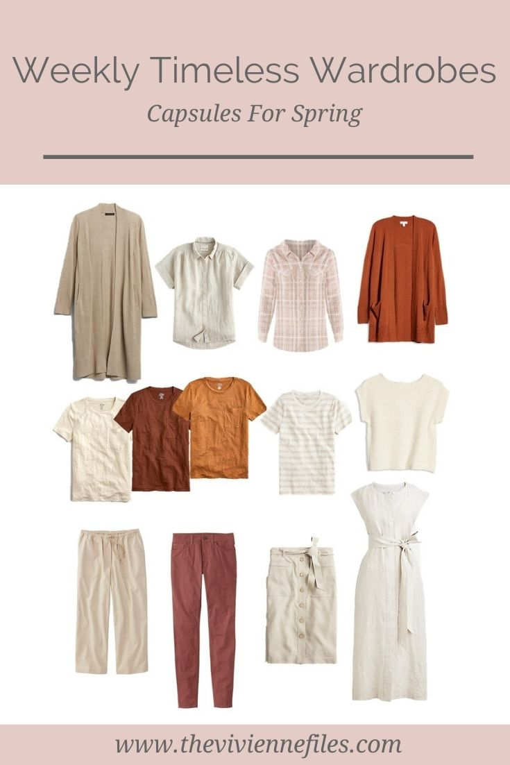 TWO SPRING CAPSULE WARDROBES, USING THE WEEKLY TIMELESS WARDROBE