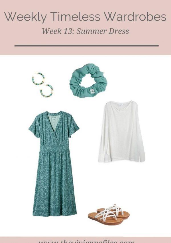 WEEKLY TIMELESS WARDROBE #13 – A SUMMER DRESS