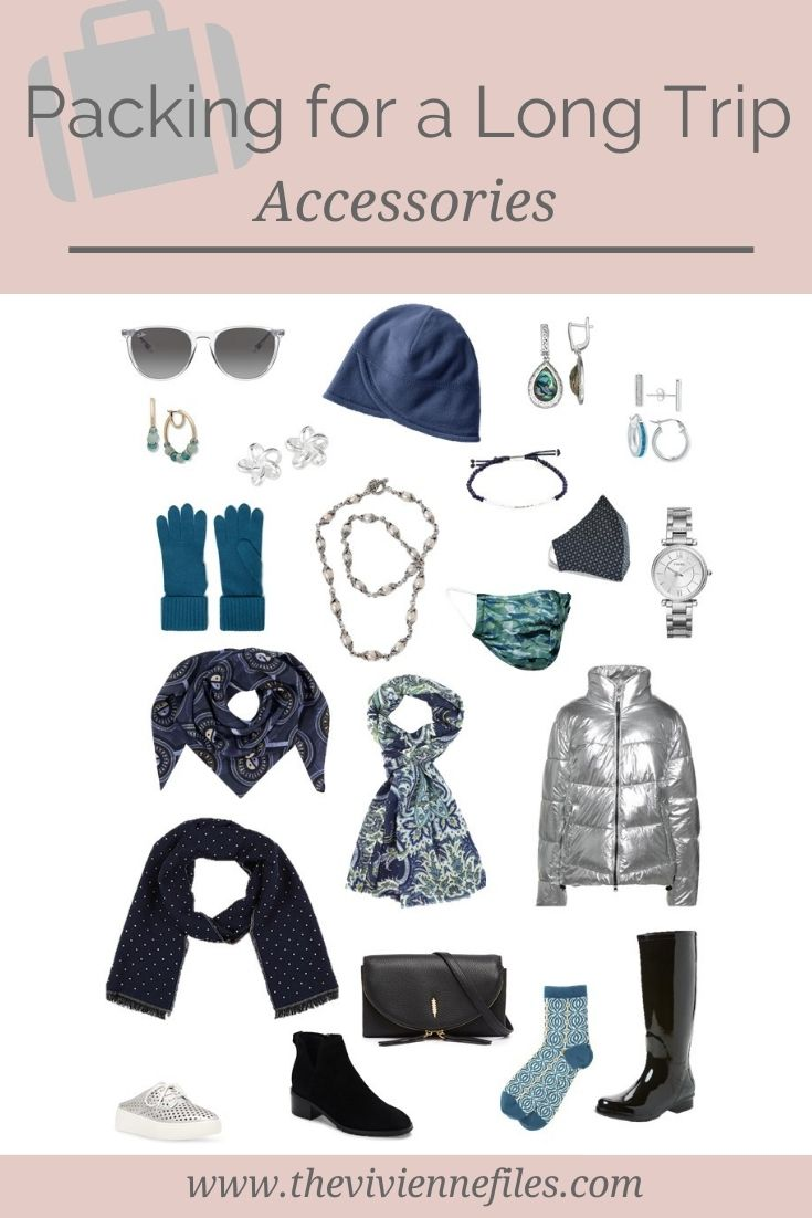 ADDING ACCESSORIES TO A WARDROBE FOR A LONG TRIP