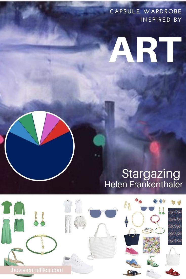 ACCESSORIES – NEUTRALS AND BRIGHTS! START WITH ART: STARGAZING BY HELEN FRANKENTHALER