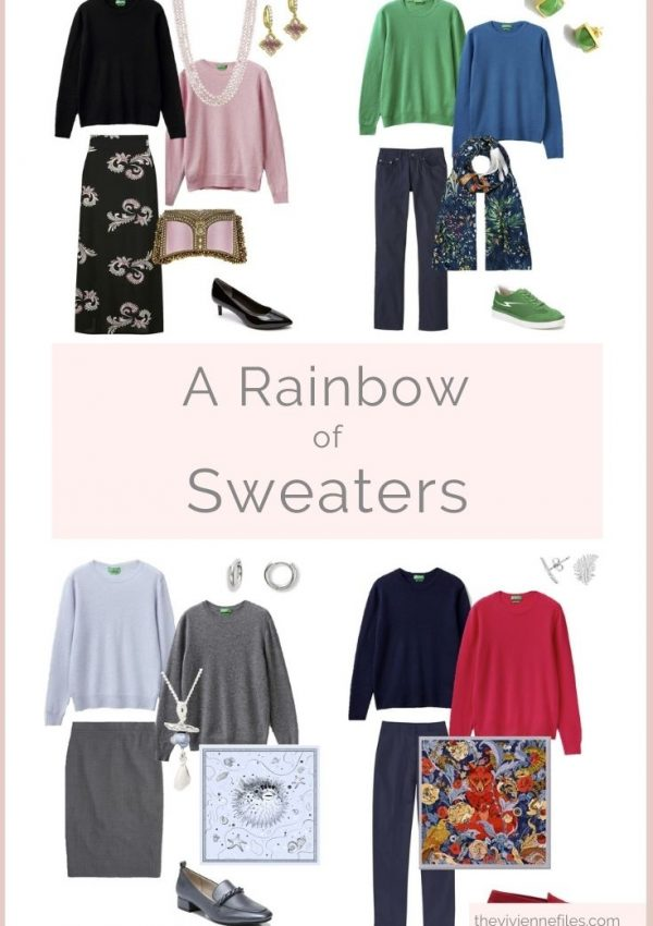 ARE YOU THINKING OF AUTUMN A RAINBOW OF SWEATERS…