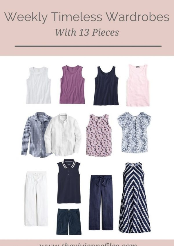 WHAT DOES A 13-PIECE WEEKLY TIMELESS WARDROBE LOOK LIKE?