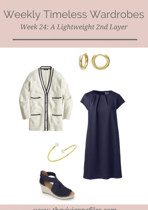 Weekly Timeless Wardrobe #24 – A Lightweight 2nd Layer