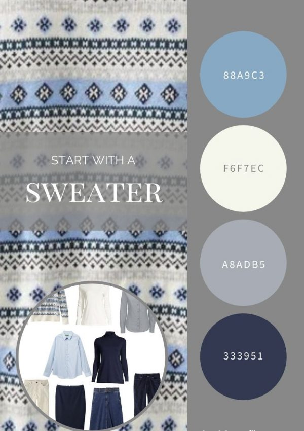 START WITH A SWEATER SAILCLOTH FAIR ISLE SWEATER FROM L.L.BEAN