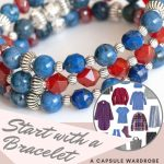 Build a capsule wardrobe starting with a bracelet in red and blue