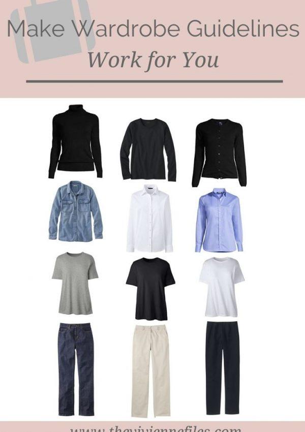 HOW DO I MAKE WARDROBE GUIDELINES WORK FOR ME